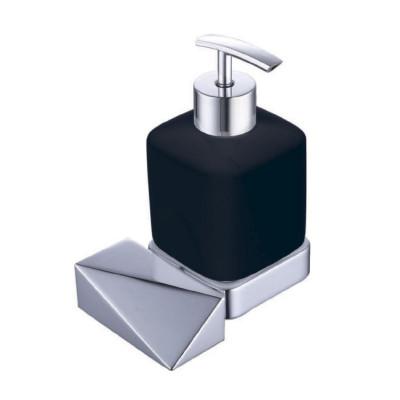 Дозатор Boheme New Venturo 10317-CR-B чёрный / хром
