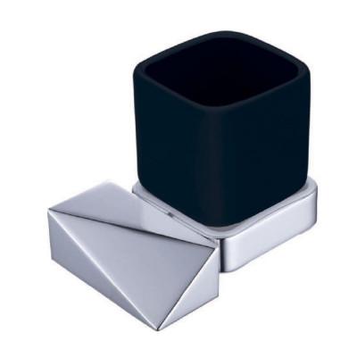 Стакан Boheme New Venturo 10314-CR-B чёрный / хром