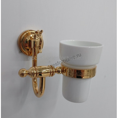 Стакан керамика к стене Fuente Real Hestia золото GR-11