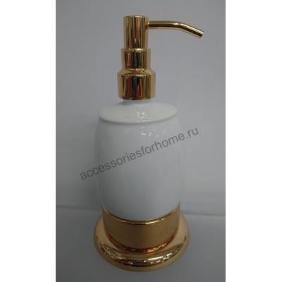 Диспенсер настольный керамика Fuente Real Hestia золото GR-17