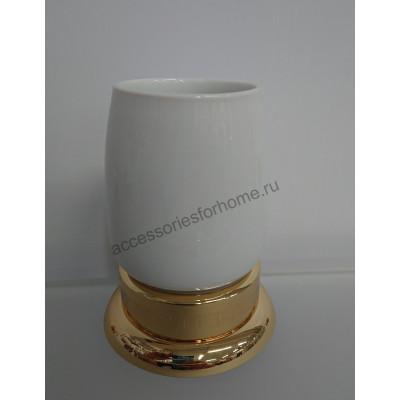 Стакан настольный керамика Fuente Real Hestia золото GR-22