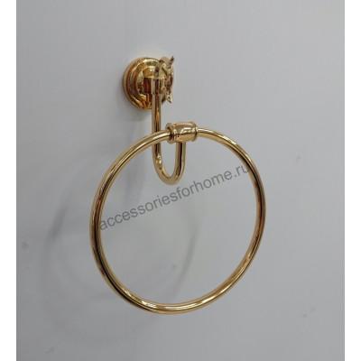 Полотенцедержатель кольцо  Fuente Real Hestia золото GR-3