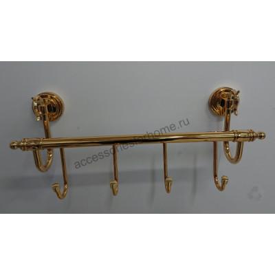 Планка на 4 крючка  Fuente Real Hestia золото GR-13