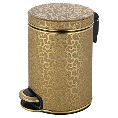 Ведро для мусора 5л Geralis V-FGG-B FLOWER золото, кант золото