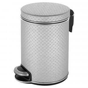 Ведро для мусора 5л Geralis V-PHH-B PUNTO серебро, кант хром