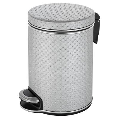 Ведро для мусора 5л Geralis V-PHH-B PUNTO хром, кант хром