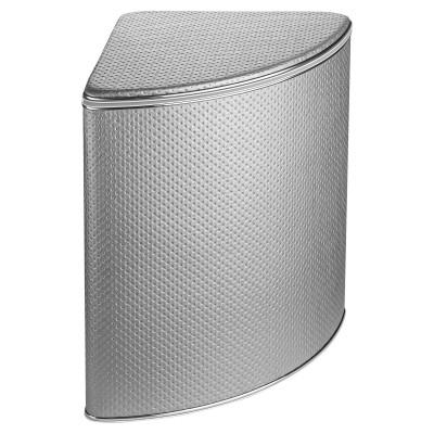 Корзина для белья Geralis PHH-U серебро, кант хром, угловая