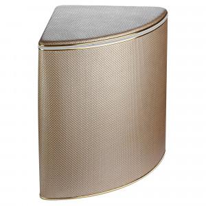 Корзина для белья Geralis RBG-U ромб коричневая, кант золото, угловая