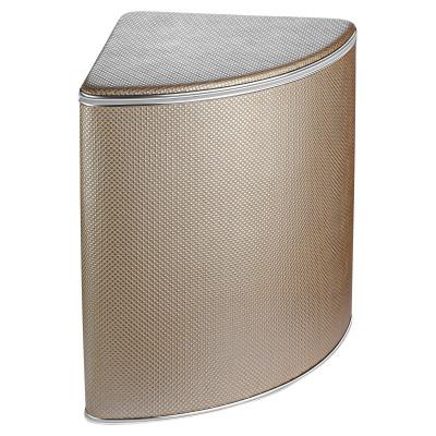 Корзина для белья Geralis RBH-U Ромб коричневая, кант хром, угловая