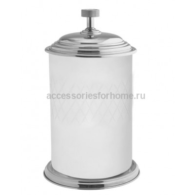 Ведро для мусора напольное стекло Boheme Royale Cristal хром 10934-CR