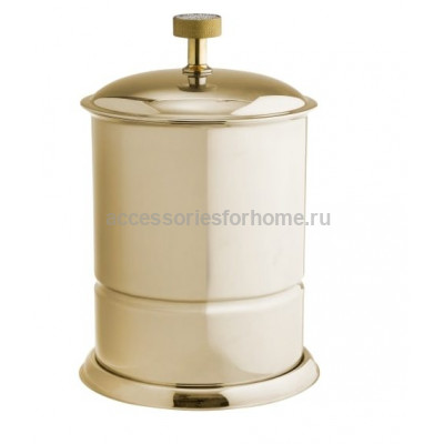 Ведро для мусора напольное металл Boheme Royale Cristal золото 10927-G