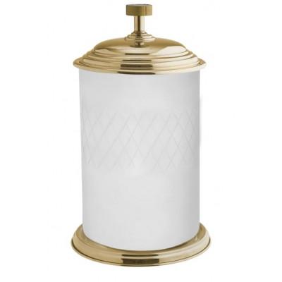 Ведро для мусора напольное стекло Boheme Royale Cristal золото 10934-G