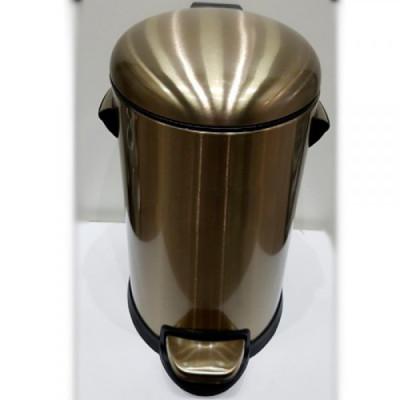 Ведро д/мусора 12л. с микролифтом Fuente Real Hestia бронза NR-12L