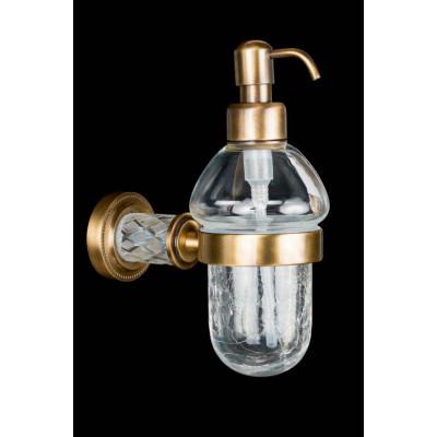 Диспенсер для жидкого мыла Boheme Murano Crystal 10912-CRST-BR бронза