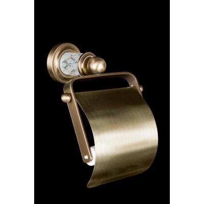 Держатель для туалетной бумаги с крышкой Boheme Murano Crystal 10901-CRST-BR бронза