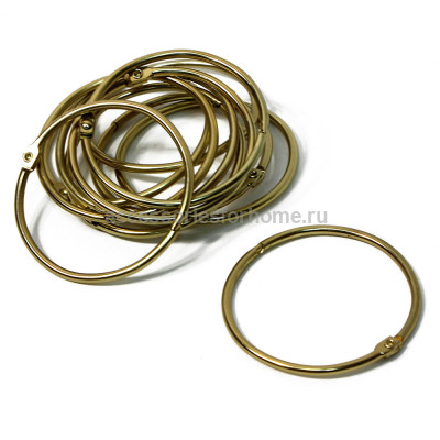 Кольца для шторы Bath Plus Decor collection KDC-08 золото
