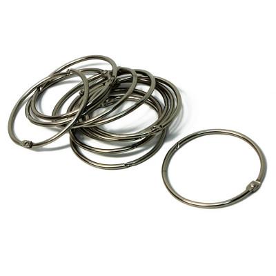 Кольца для штор BATH PLUS Decor Collection KDC-07 серебро 12 шт