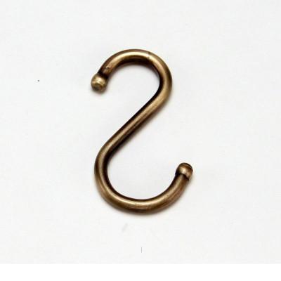 3400В Крючок одинарный, старая бронза Lemi