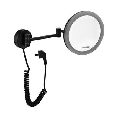 Зеркало с LED-подсветкой, 3-х кратным увеличением WasserKraft K-1004BLACK
