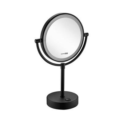 Зеркало с LED-подсветкой двухстороннее, стандартное и с 3-х кратным увеличением WasserKraft K-1005BLACK