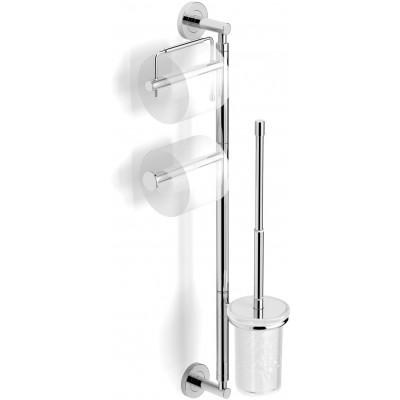 Стойка для туалета ( держатель туалетной бумаги + ерш + держатель запасного рулона ) к стене Langberger Burano 70182