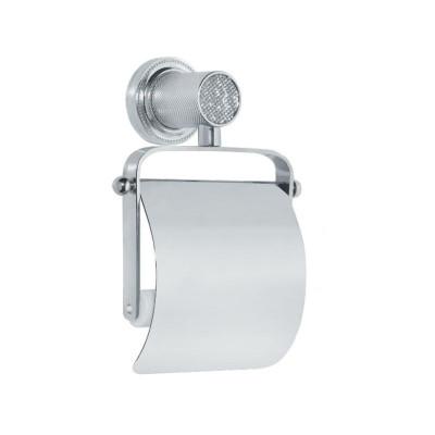 Держатель туалетной бумаги с крышкой Boheme Royale Cristal хром 10921-CR