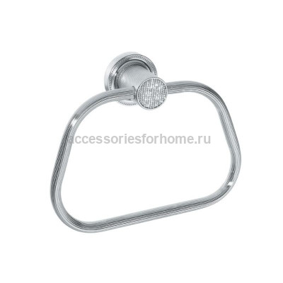 Держатель для полотенца кольцо Boheme Royale Cristal хром 10925-CR