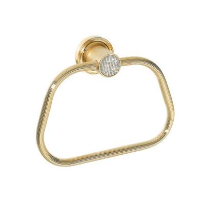 Держатель для полотенца кольцо Boheme Royale Cristal золото 10925-G