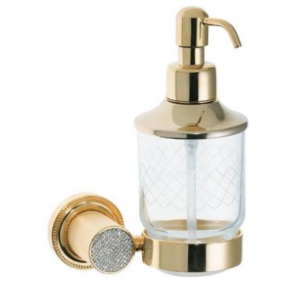 Дозатор настенный Boheme Royale Cristal золото 10932-G