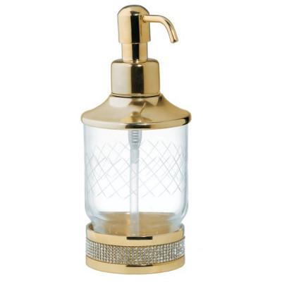 Дозатор настольный Boheme Royale Cristal золото 10929-G