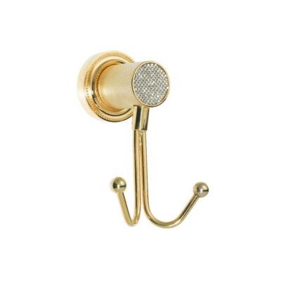 Крючок двойной Boheme Royale Cristal золото 10926-G