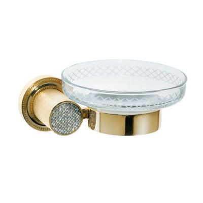 Мыльница настенная Boheme Royale Cristal золото 10923-G