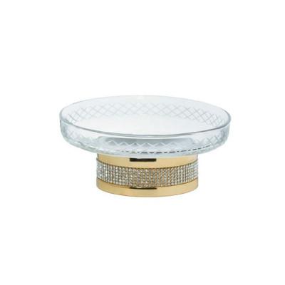 Мыльница настольная Boheme Royale Cristal золото 10930-G